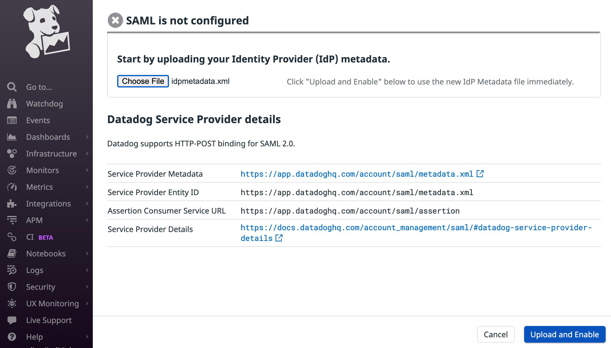 Single Sign On With SAML